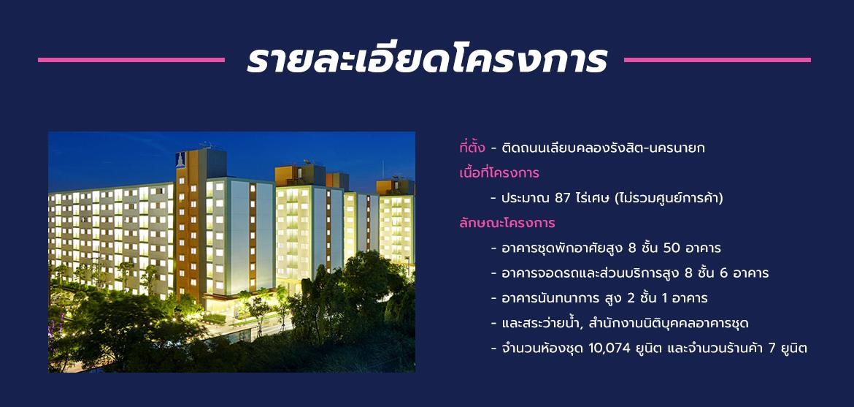 รายละเอียดโครงการ Lumpini TownShip rangsit